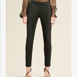 NWT DKNY faux suede leggings sz large